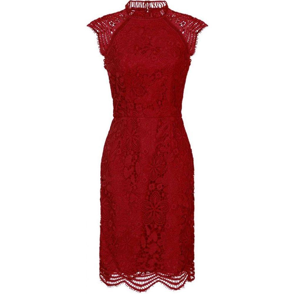 チチ Chi Chi レディース ボディコンドレス ワンピース・ドレス【Crochet Bodycon Dress】Red