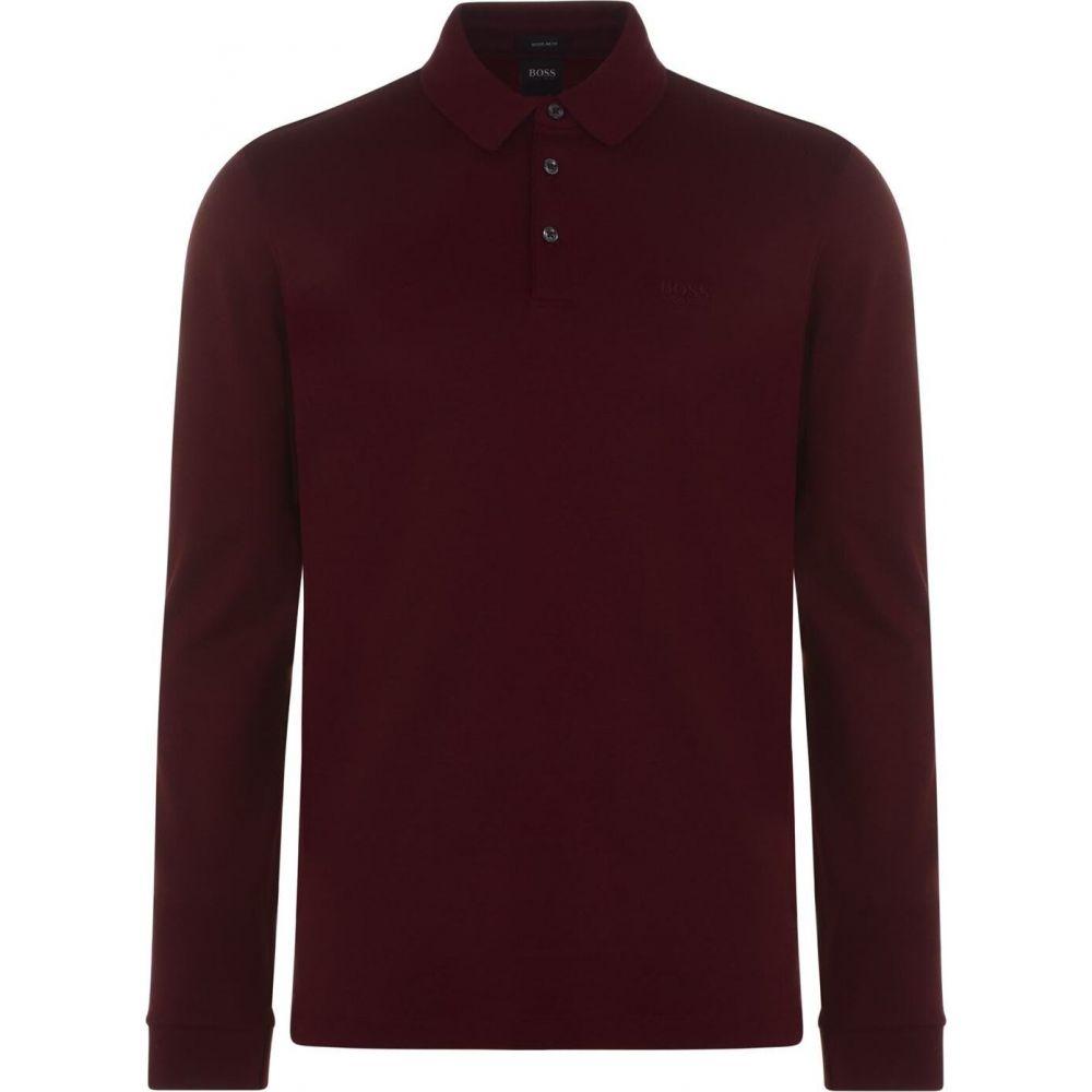 数量は多い  ヒューゴ ボス BOSS メンズ ボス ポロシャツ トップス Shirt】Red 11【Pado 11 Long Sleeve Polo Shirt】Red, オオトウマチ:04ae0995 --- coursedive.com