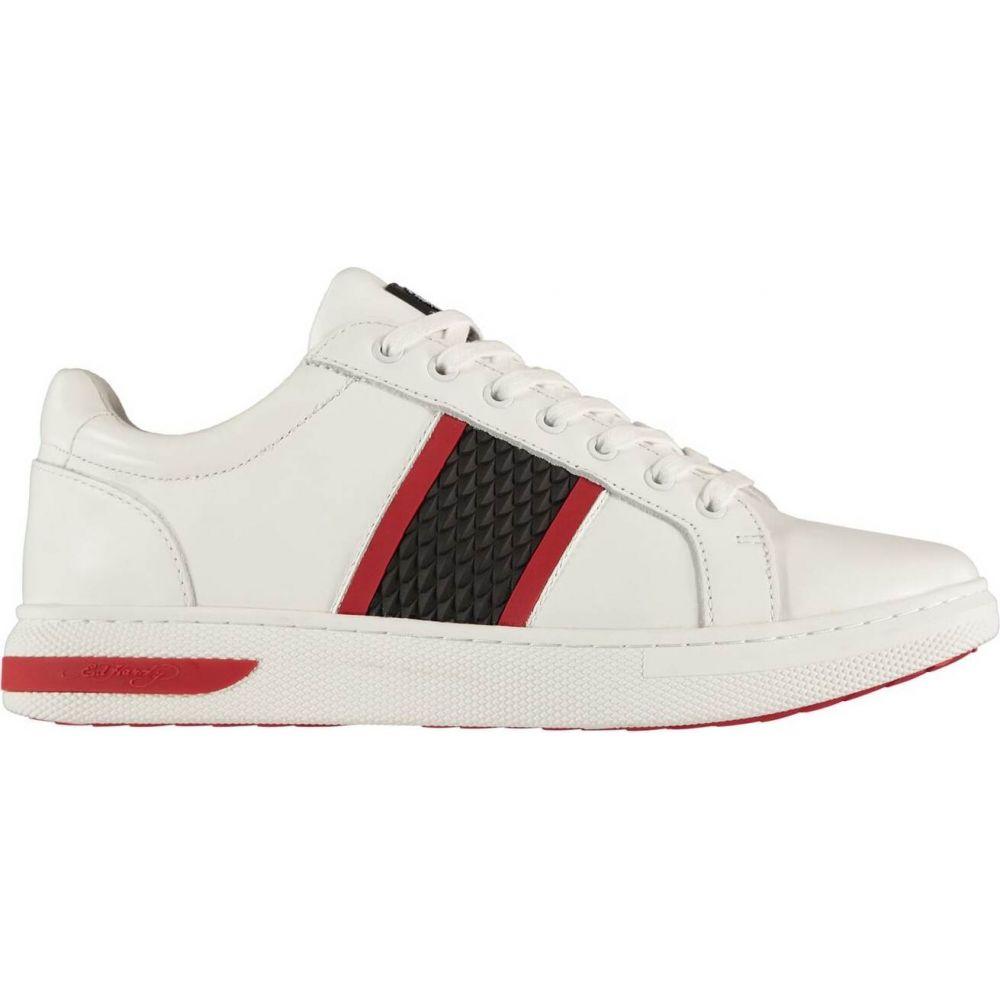 エドハーディー Ed Hardy メンズ スニーカー シューズ・靴【Hardy Blade Trainers】White/Red
