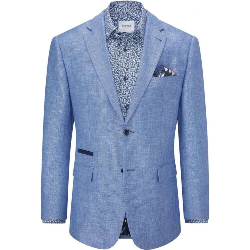 Blend Linen スーツ・ジャケット アウター【Bonucci Skopes Jacket】Blue スコープス メンズ