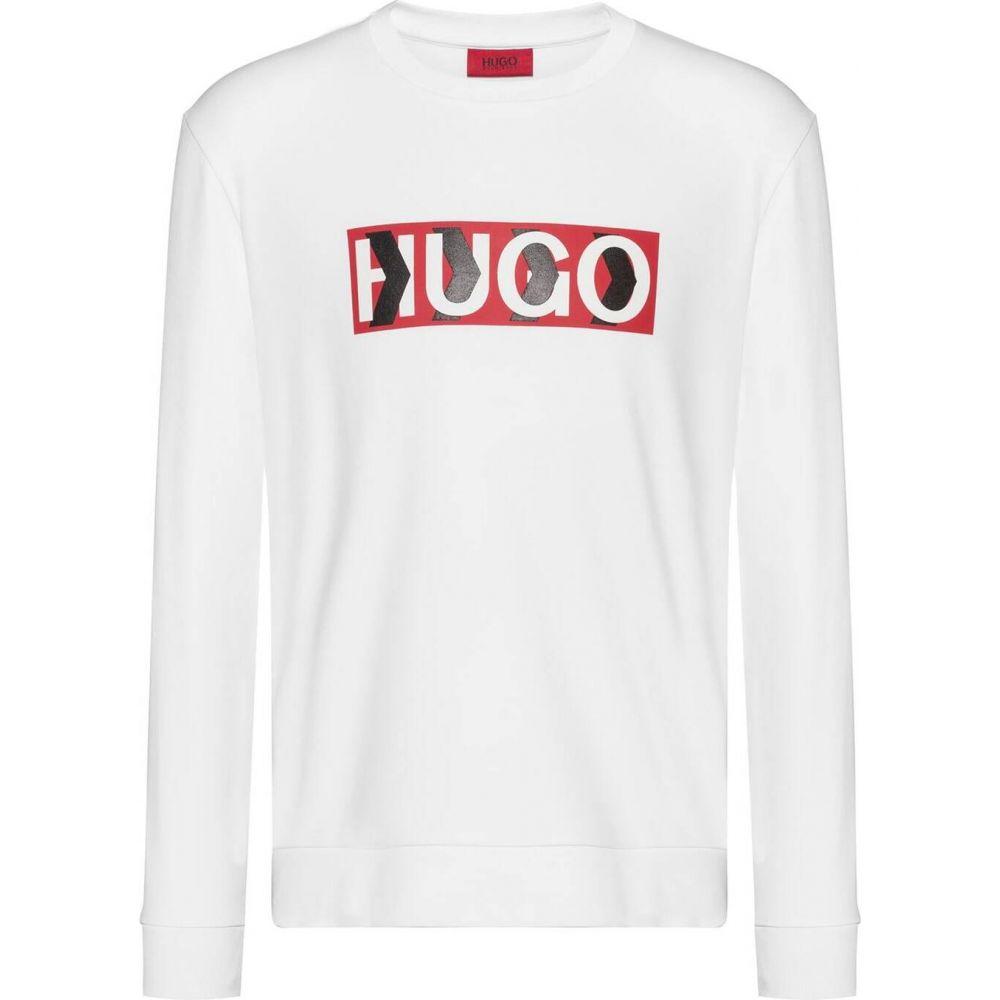 ヒューゴ ボス HUGO メンズ スウェット・トレーナー トップス【Liam Payne Dicago Sweatshirt】White