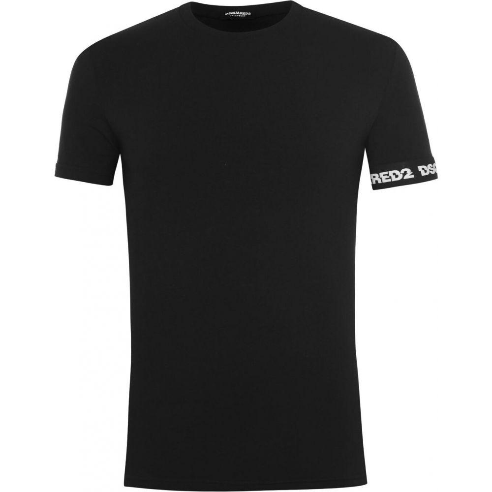 トップス【Tape Shirt】Black Tシャツ Arm T DSQUARED2 ディースクエアード メンズ
