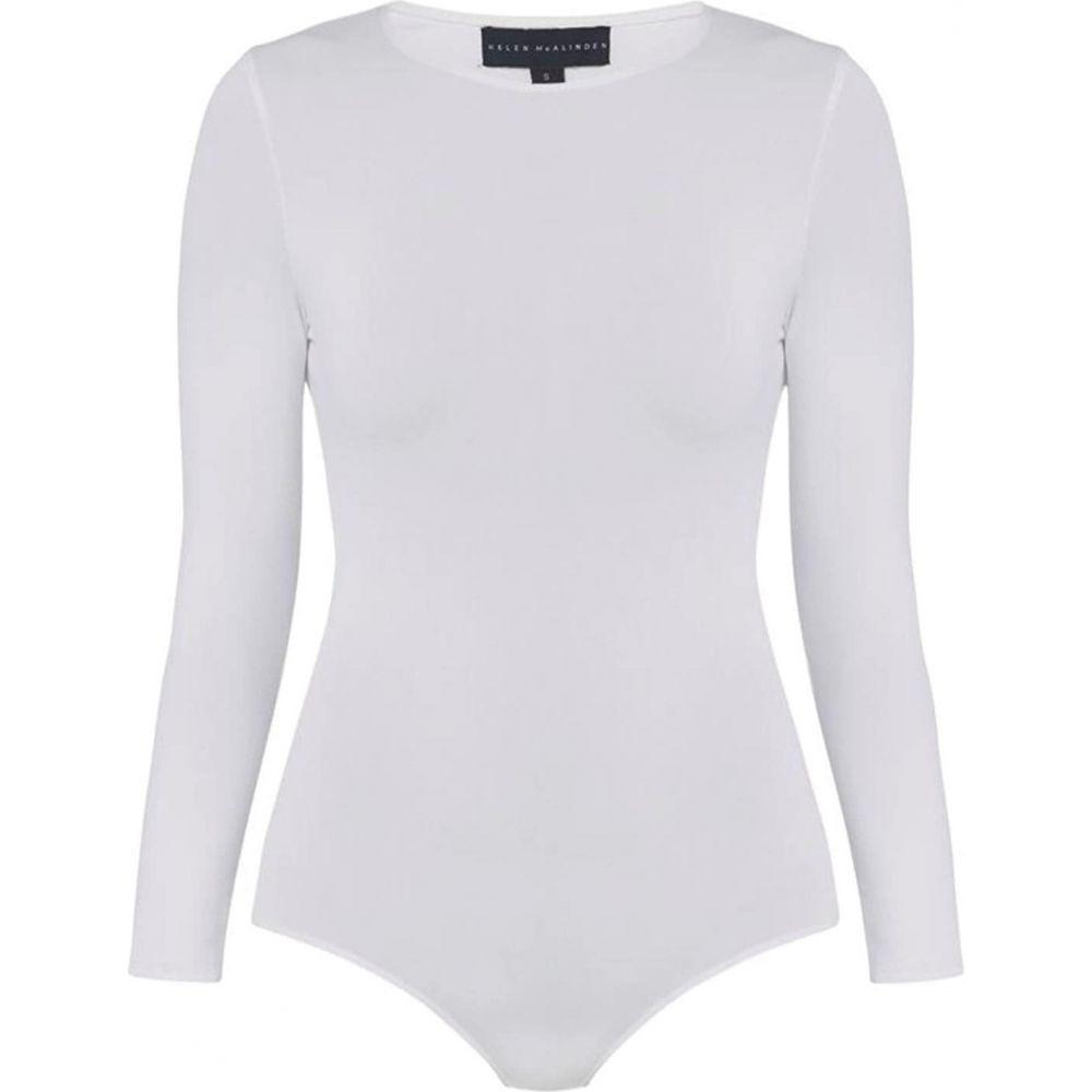 ヘレンマクアリンデン レディース インナー・下着 ボディースーツ White 【サイズ交換無料】 ヘレンマクアリンデン Helen McAlinden レディース ボディースーツ インナー・下着【Long Sleeve Bodysuit】White