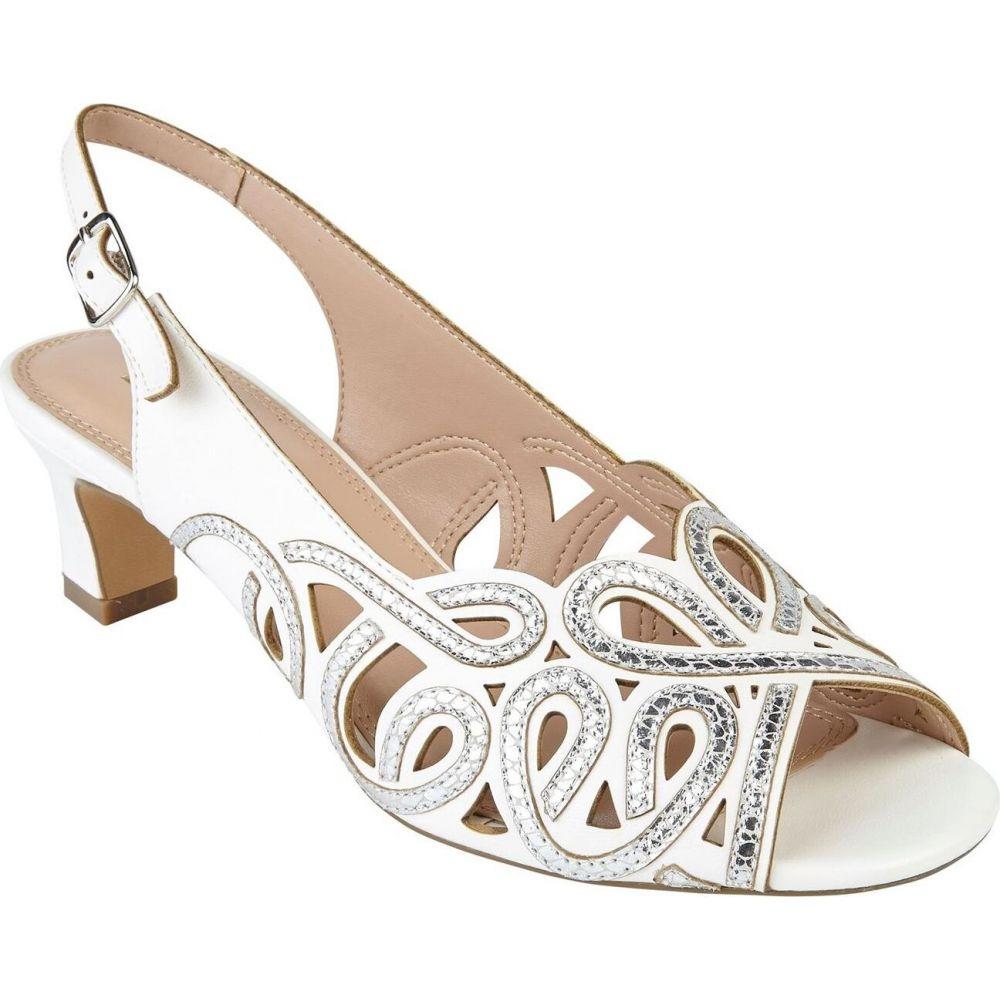 ロータス レディース シューズ 靴 新入荷 流行 パンプス White サイズ交換無料 Courts Marianna Toe Lotus Peep 贈与 Shoes
