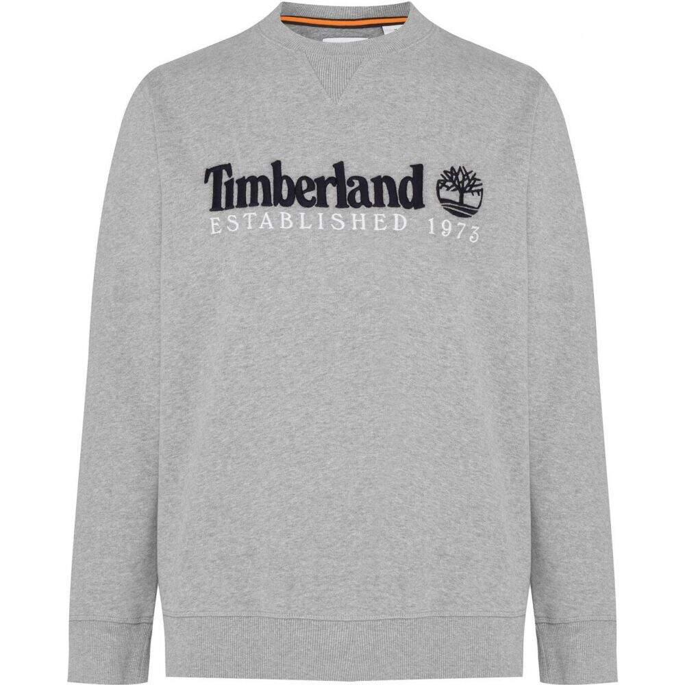 ティンバーランド 結婚祝い メンズ トップス スウェット トレーナー Med Grey Crew オーバーのアイテム取扱☆ サイズ交換無料 Heritage Hthr Timberland Sweatshirt Outdoor