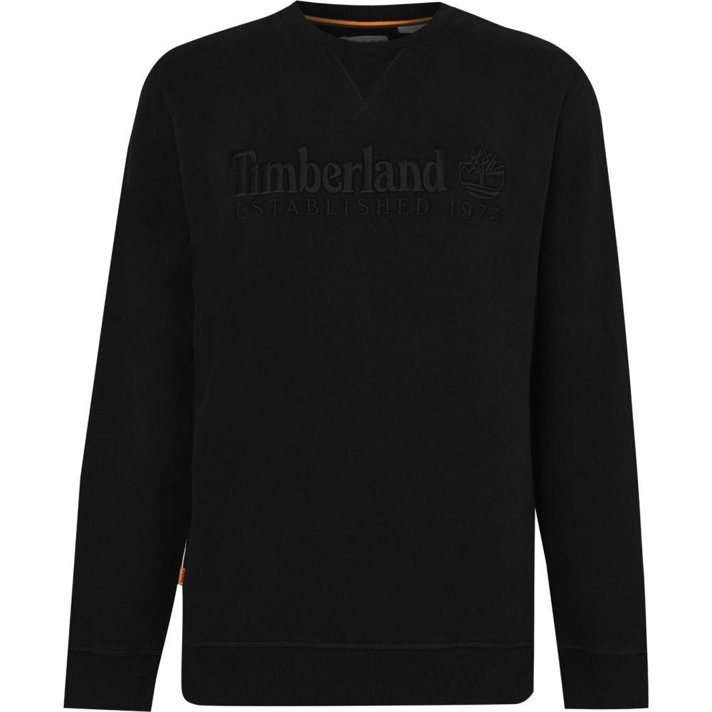 キャンペーンもお見逃しなく ティンバーランド メンズ トップス スウェット トレーナー Black Heritage サイズ交換無料 Sweatshirt 再再販 Timberland Crew Outdoor