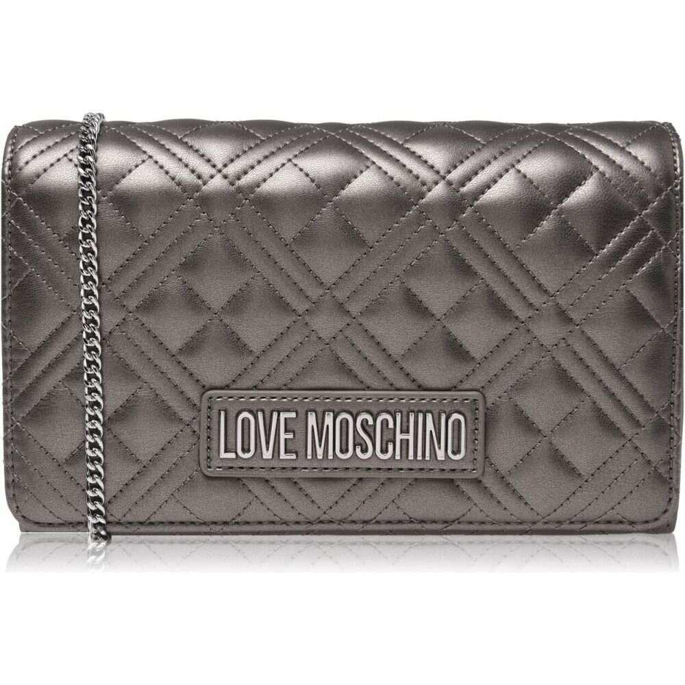 <title>モスキーノ レディース バッグ ショルダーバッグ 定番キャンバス Fucile サイズ交換無料 Love Moschino Quilted Cross-Body Bag</title>