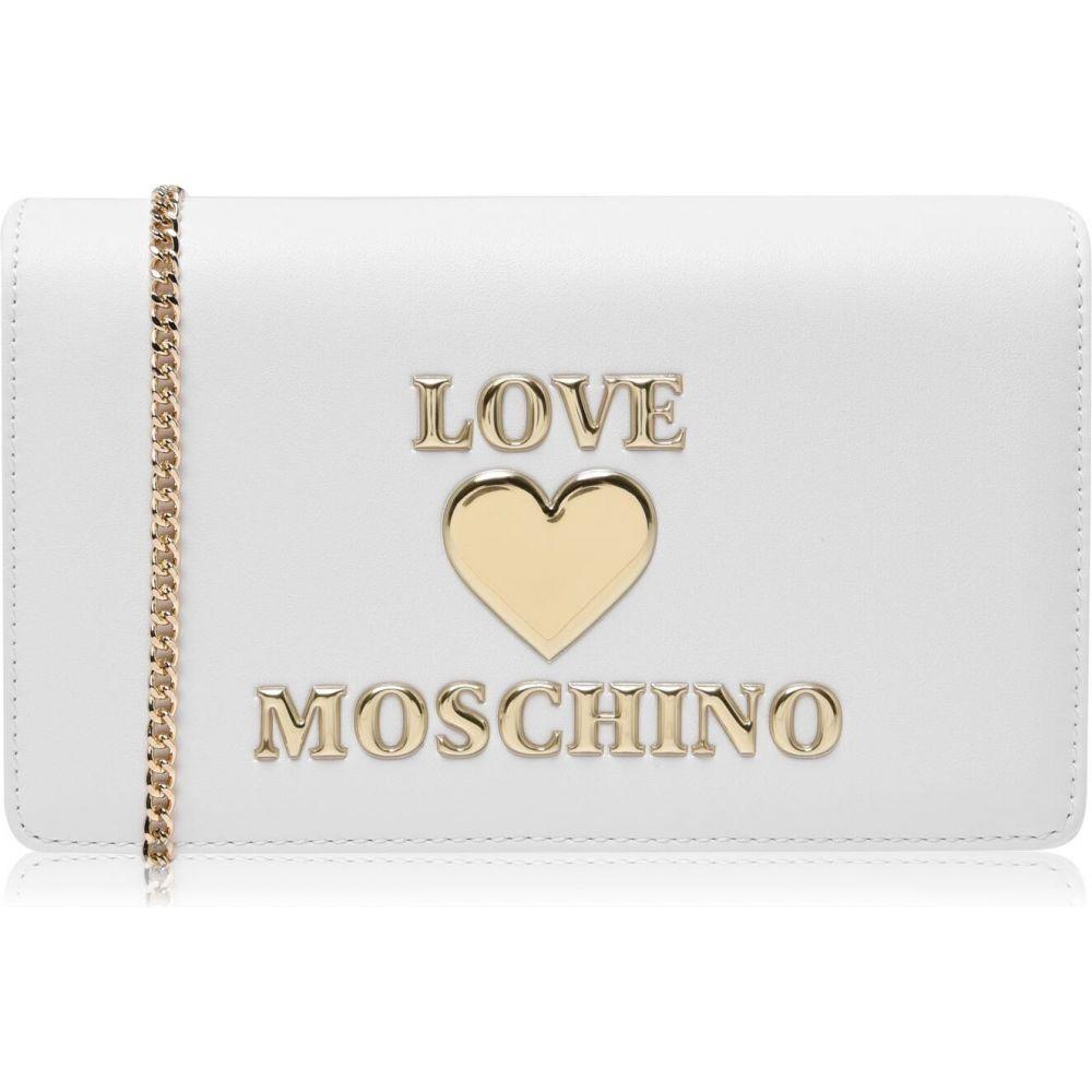 <title>モスキーノ レディース バッグ ショルダーバッグ Bianco サイズ交換無料 Love Moschino 発売モデル LM Lgo Heart Shoulde Ld12</title>