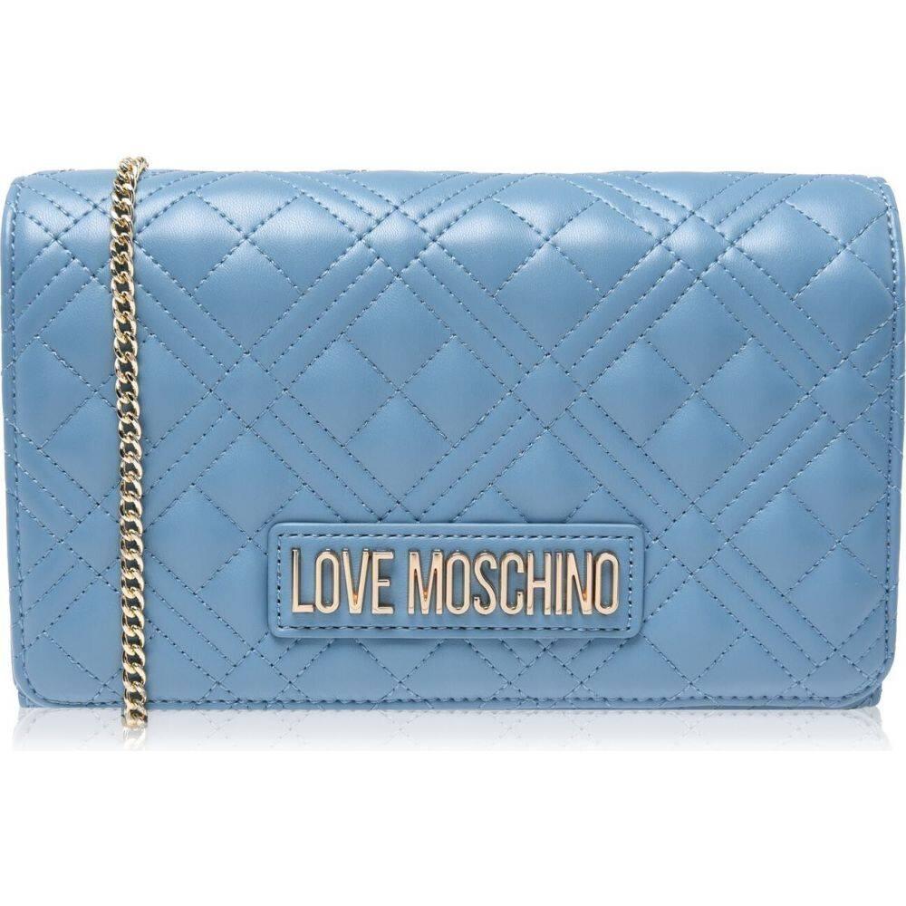 <title>モスキーノ レディース バッグ ショルダーバッグ Azzuro サイズ交換無料 Love Moschino Quilted 『1年保証』 Cross-Body Bag</title>