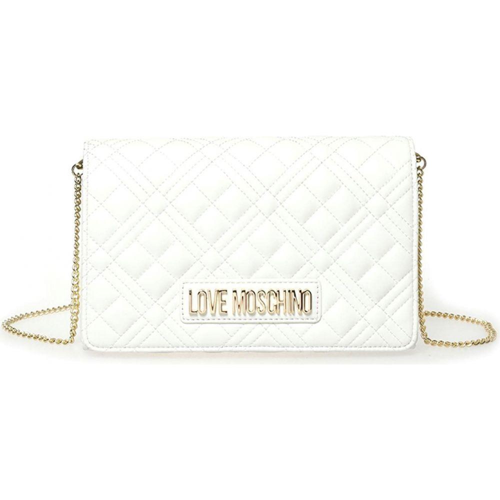 <title>モスキーノ 爆買い送料無料 レディース バッグ ショルダーバッグ Bianco サイズ交換無料 Love Moschino Quilted Cross-Body Bag</title>