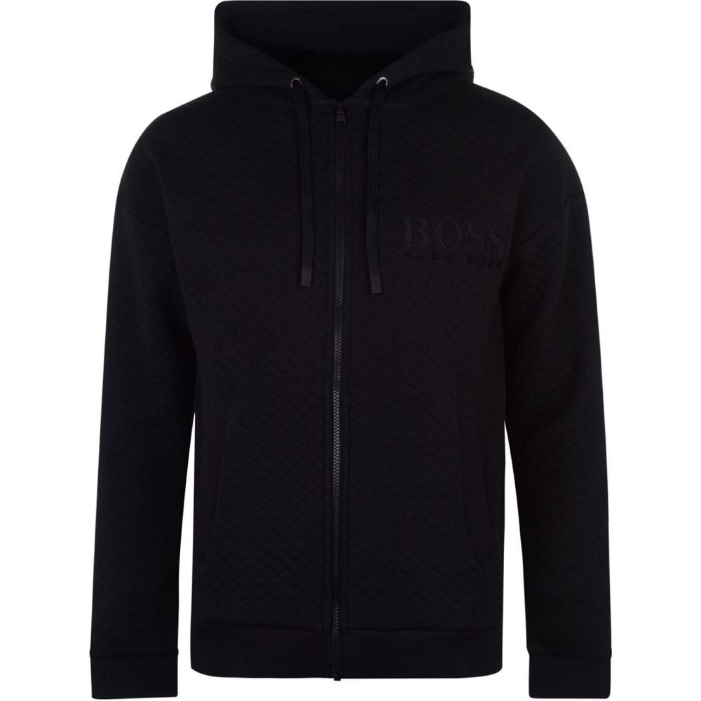 ヒューゴ ボス メンズ 本店 トップス パーカー ショッピング Black BOSS Contemporary サイズ交換無料 Zip Hoodie