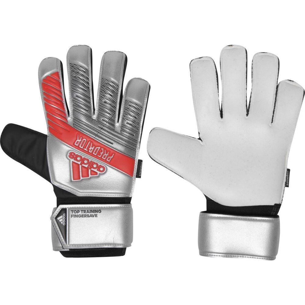 アディダス メンズ サッカー グローブ Silver オンラインショッピング サイズ交換無料 おすすめ adidas Goalkeeper Predator Training Gloves Top ゴールキーパー Fingersave