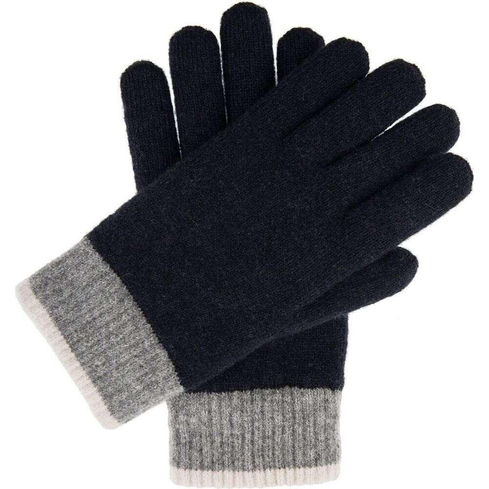 デンツ メンズ ファッション小物 手袋 グローブ Navy 再再販 サイズ交換無料 Glove 信用 Cuff Dents Knitted Contrast