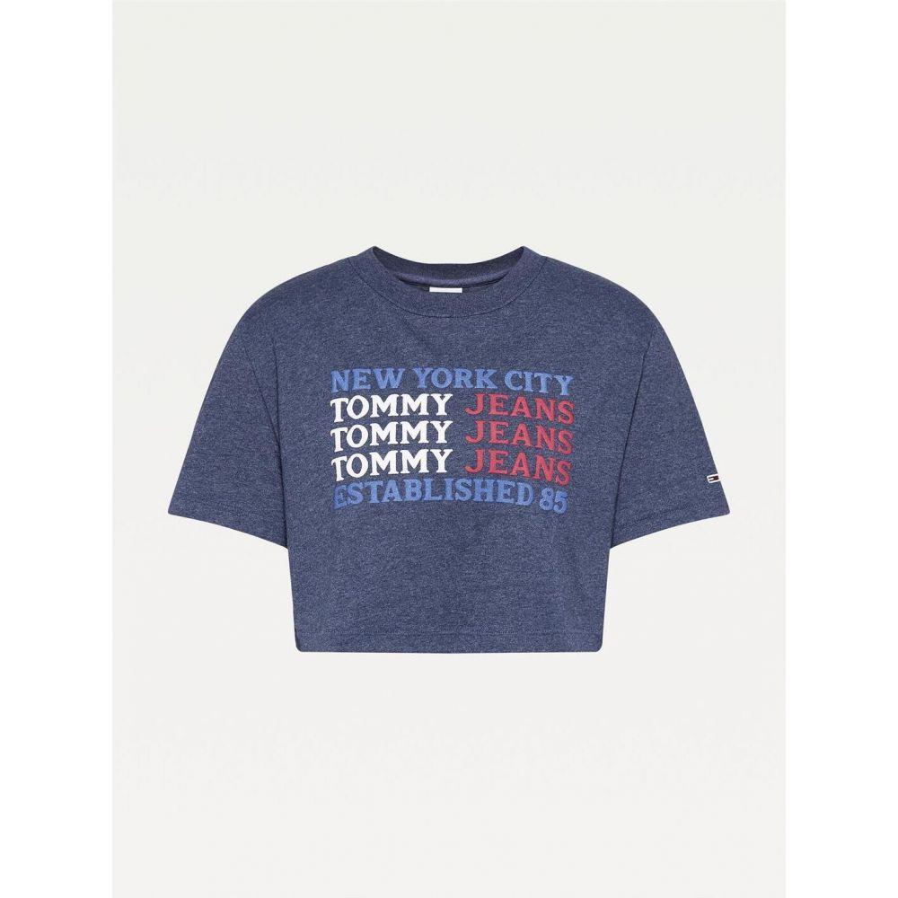 トミー ジーンズ レディース トップス ベアトップ お得なキャンペーンを実施中 チューブトップ クロップド TWLGHT Jeans 全店販売中 Crop T Super Tommy Shirt サイズ交換無料 NAVY