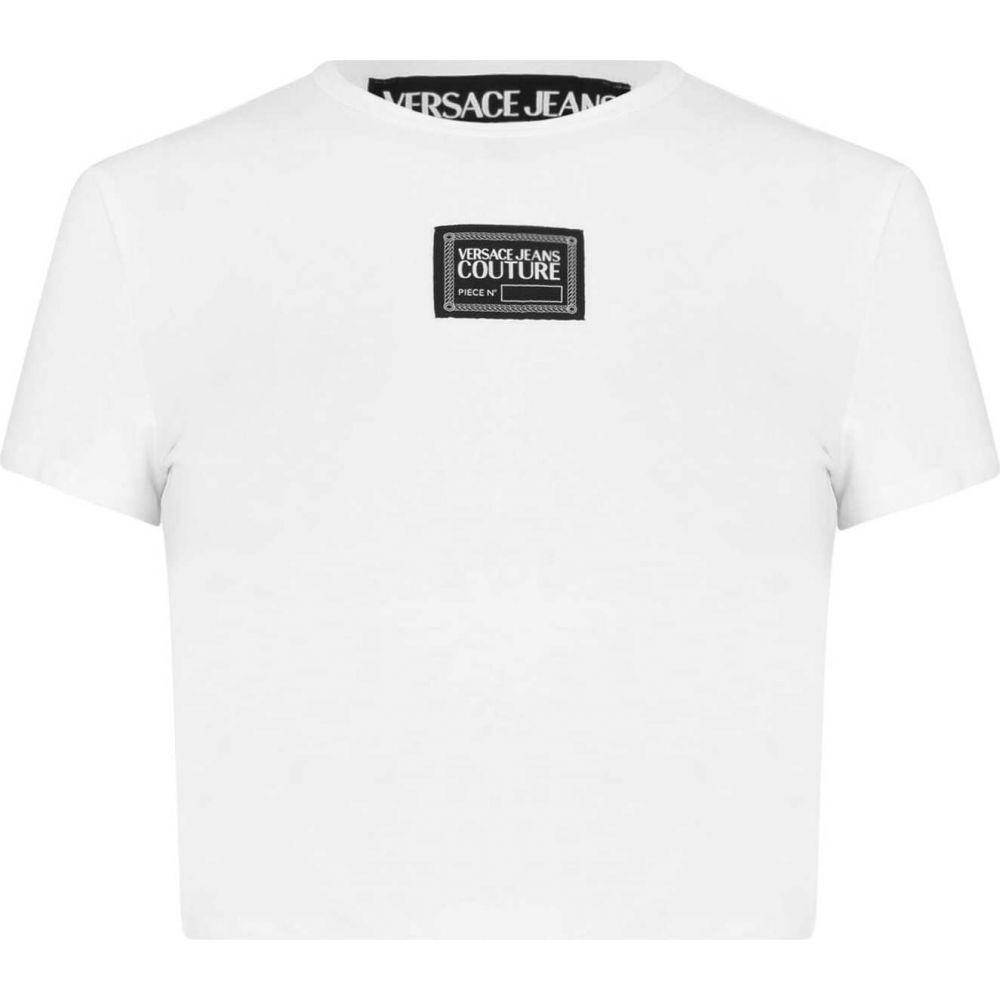 ヴェルサーチ レディース トップス ベアトップ チューブトップ OUTLET SALE クロップド White Tシャツ <セール&特集> サイズ交換無料 JEANS VERSACE Crop COUTURE Tee