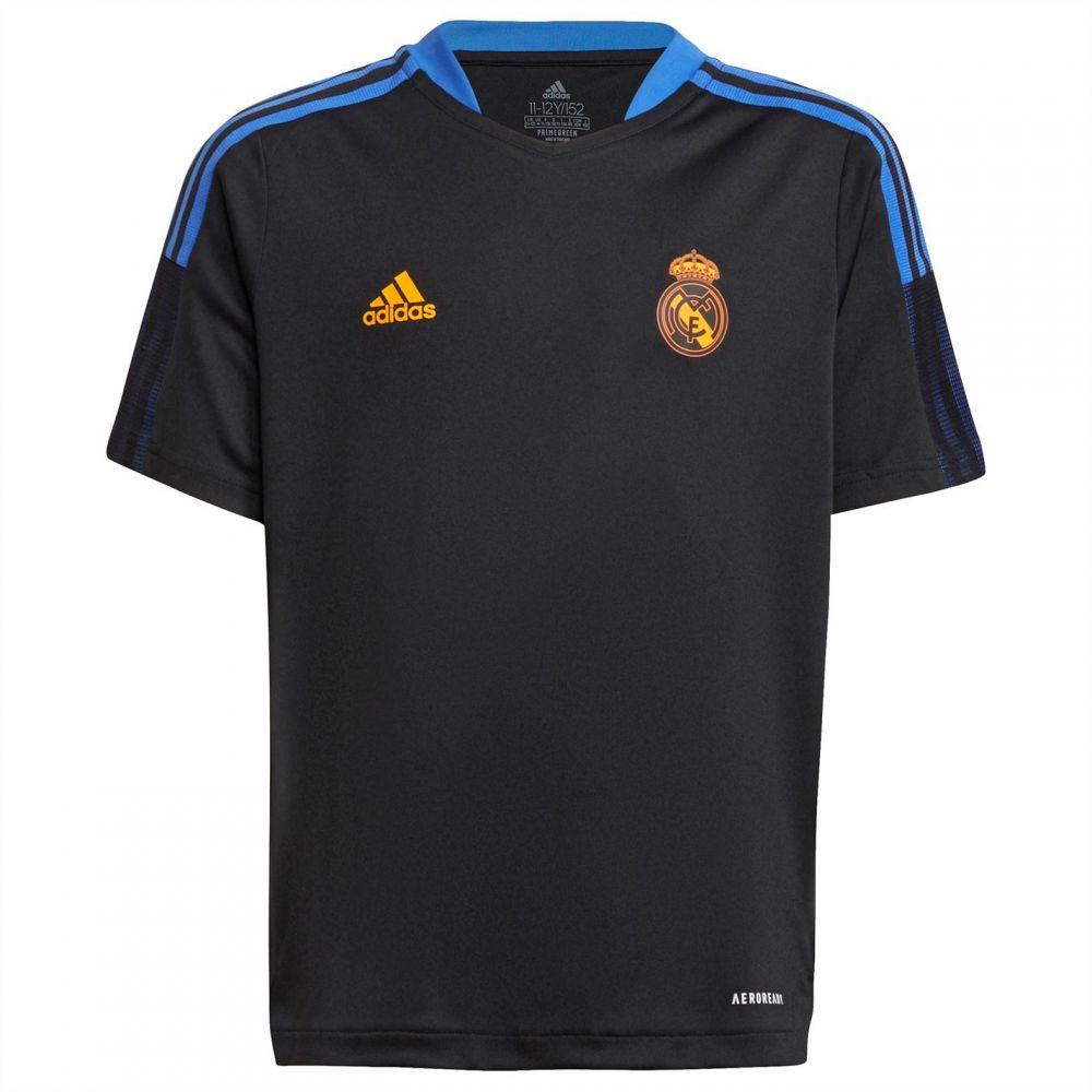 アディダス 未使用品 メンズ サッカー トップス Black サイズ交換無料 adidas Shirt Real 2022 2021 Training 日本産 Madrid