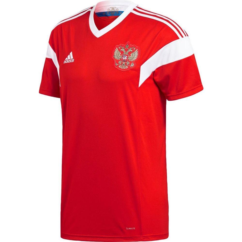 アディダス メンズ サッカー トップス Red White adidas 2018 Russia サイズ交換無料 Shirt 卸売り 超安い Home