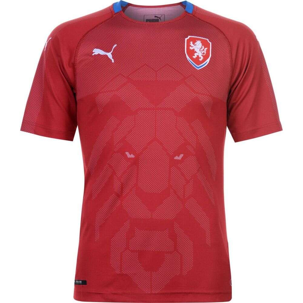 プーマ メンズ 開店祝い サッカー トップス 正規逆輸入品 Red Royal サイズ交換無料 Shirt 2018 Home Puma Czech Republic