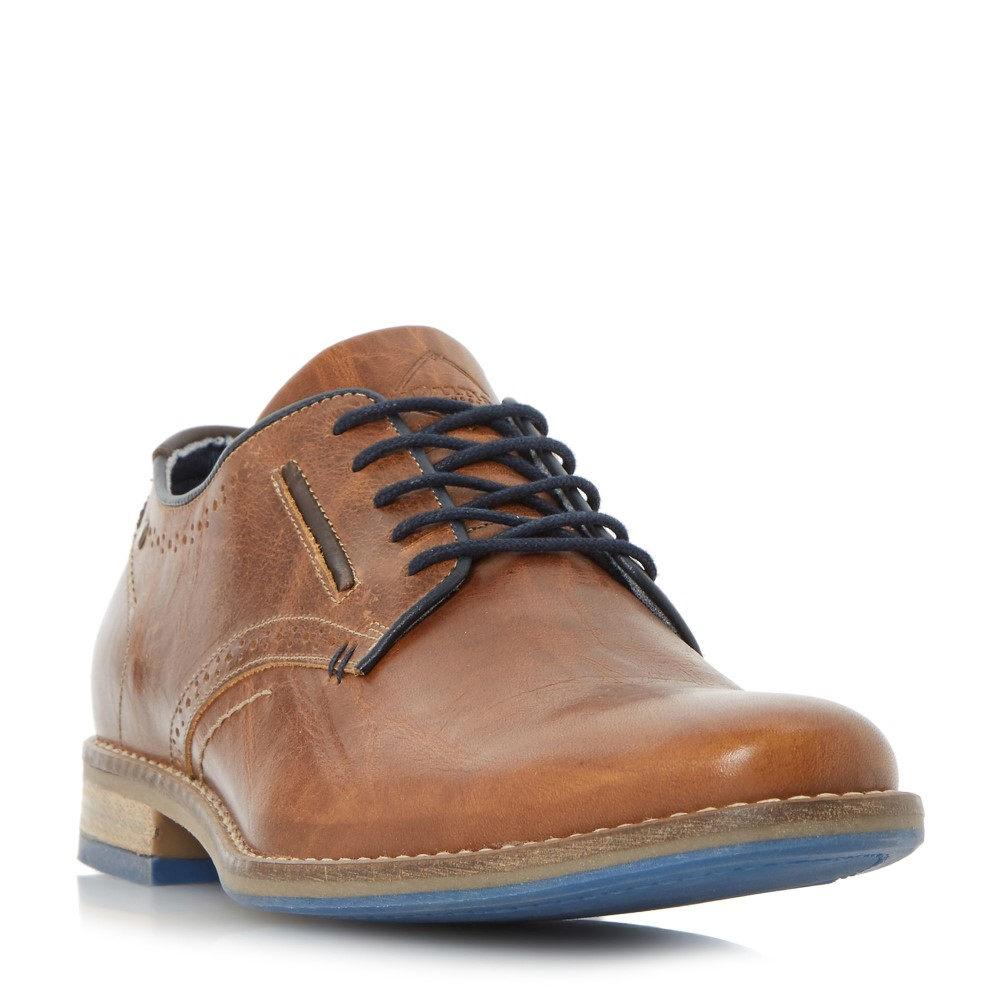 デューン メンズ シューズ・靴 革靴・ビジネスシューズ【Brewer Piped Gibson Casual Shoes】tan