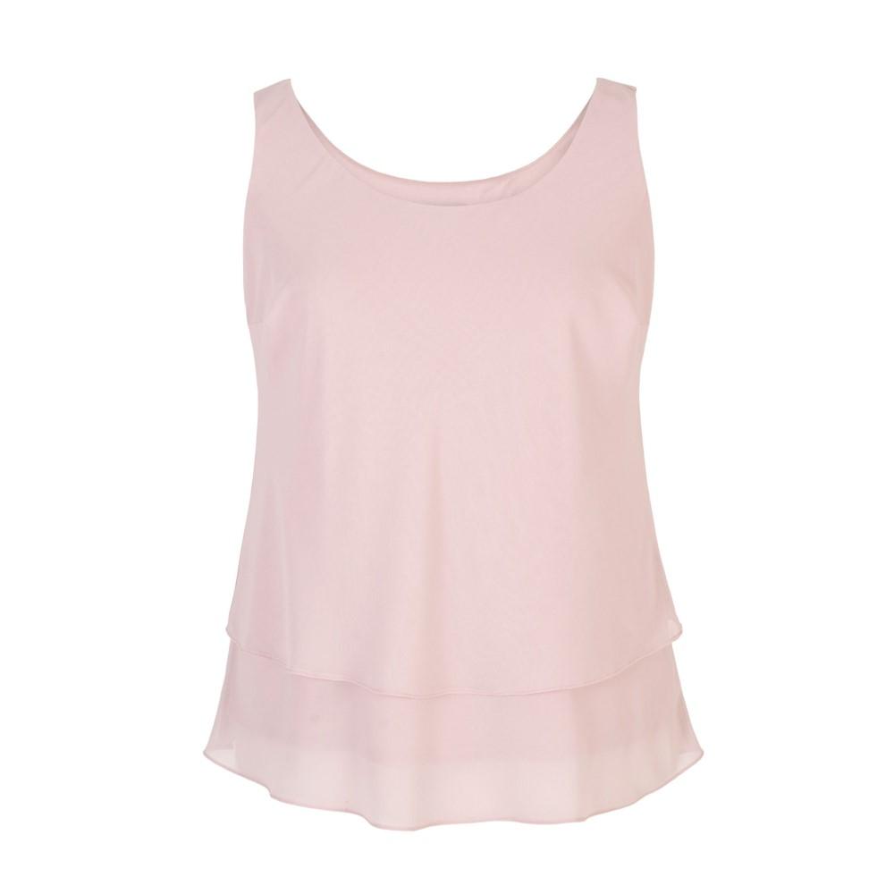 チェスカ レディース インナー・下着 スリップ・キャミソール【Double Layer Chiffon Camisole】pink