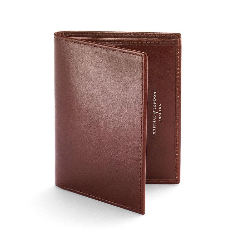 アスピナル オブ ロンドン レディース カードケース・名刺入れ【Double Credit Card Case Pocket Smooth Cognac】brown