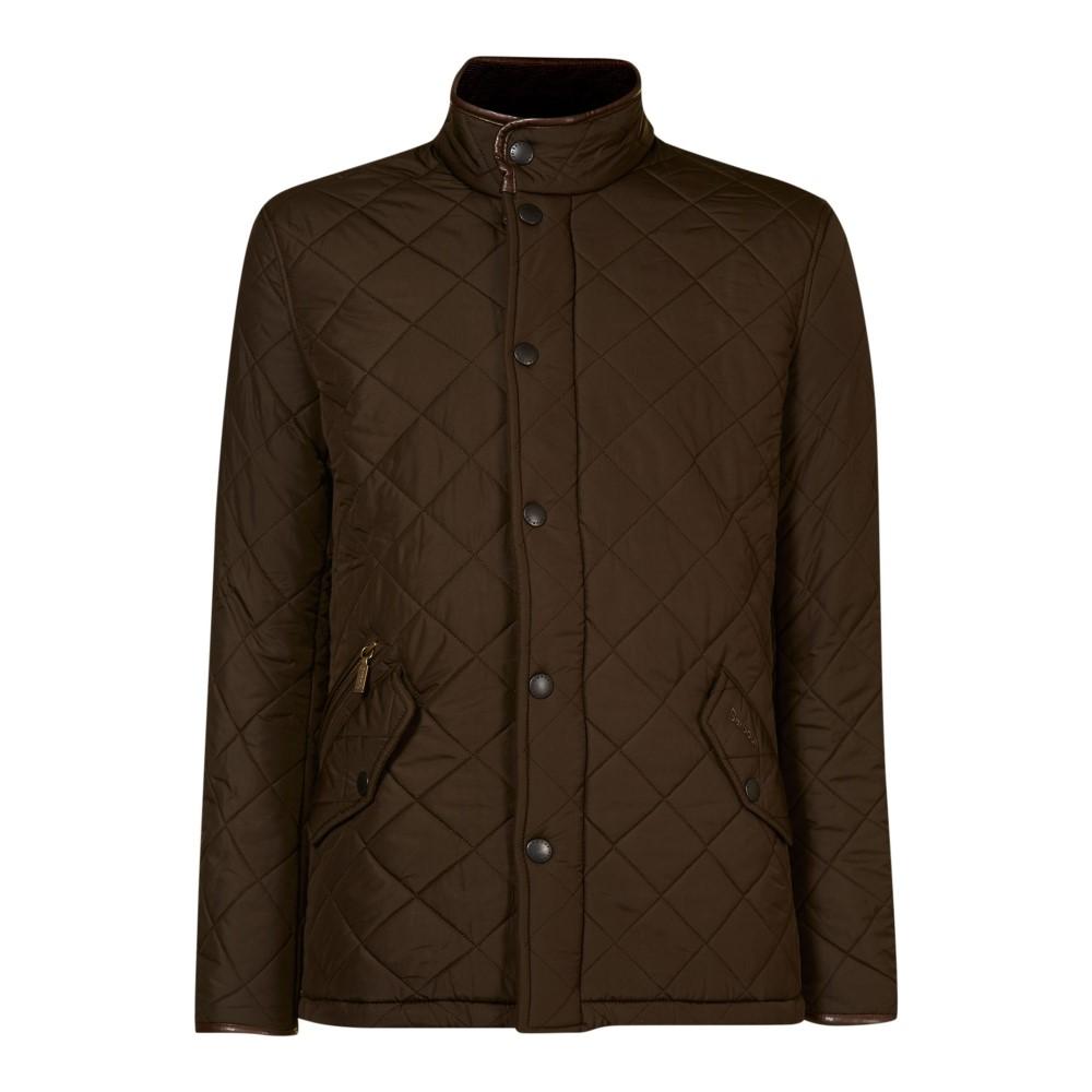 バーブァー メンズ アウター ジャケット【Powell Polar Quilt Chelsea Jacket】olive