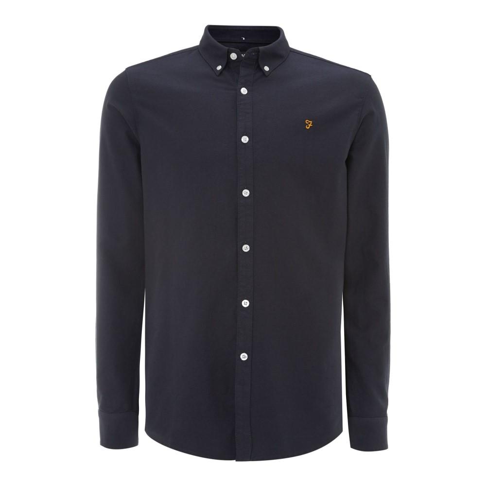 ファーラー メンズ トップス シャツ【Brewer Slim Fit Button Down Oxford Shirt】navy