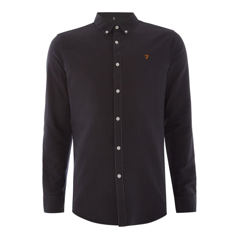 ファーラー メンズ トップス シャツ【Brewer Slim Fit Button Down Oxford Shirt】black
