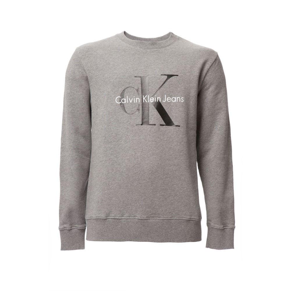 カルバンクライン メンズ トップス スウェット・トレーナー【Crew Neck Hwk True Icon Sweatshirt】grey