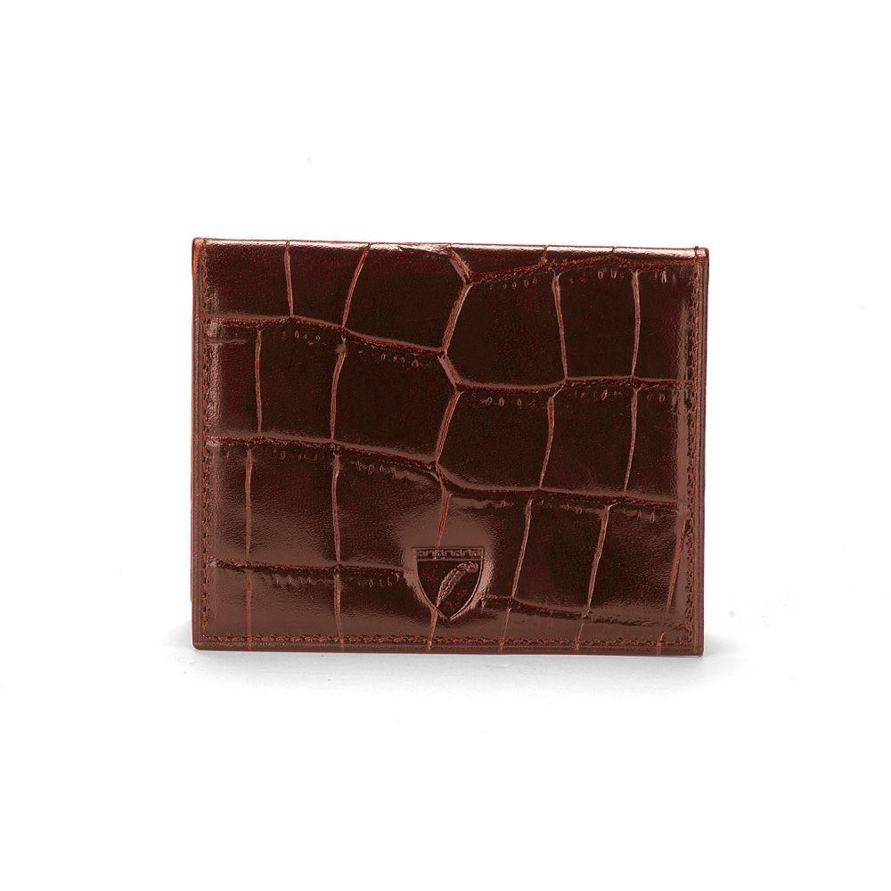 アスピナル オブ ロンドン メンズ カードケース・名刺入れ【Id & Travel Card Case】amazon brown