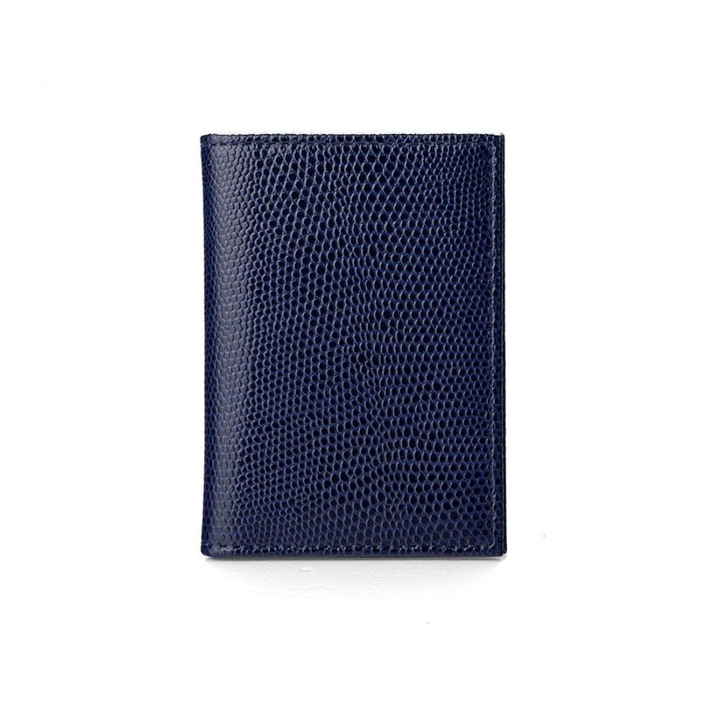 アスピナル オブ ロンドン レディース カードケース・名刺入れ【Double Credit Card Case】midnight blue