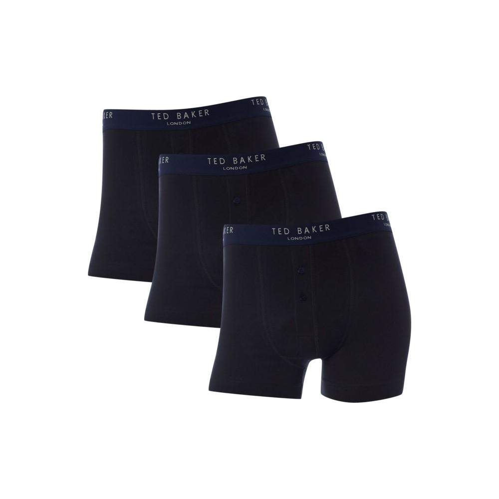 格安新品  テッドベーカー メンズ Plain インナー・下着 ボクサーパンツ【3 メンズ Pack Plain Trunk Trunk】black】black, BUZZiShop:8055e51f --- business.personalco5.dominiotemporario.com