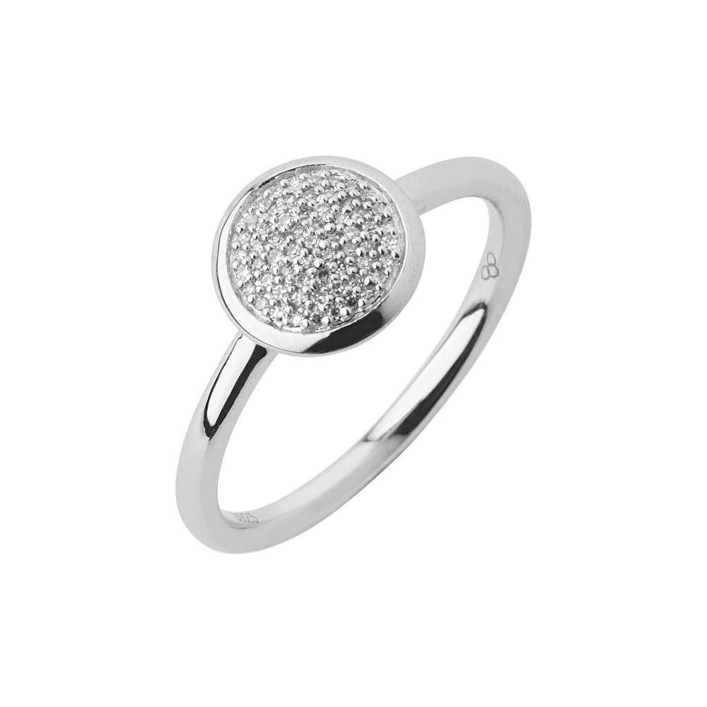 リンクス オブ ロンドン レディース ジュエリー・アクセサリー 指輪・リング【Diamond Essentials Pave Ring - Ring Size L】silver