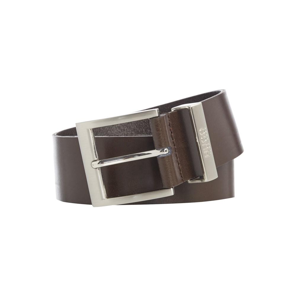 ヒューゴ ボス メンズ ベルト【High Shine Leather Belt】brown
