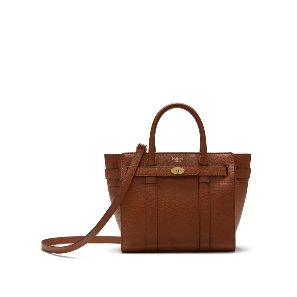 マルベリー レディース バッグ ショルダーバッグ【Mini Zipped Bayswater Bag】oak