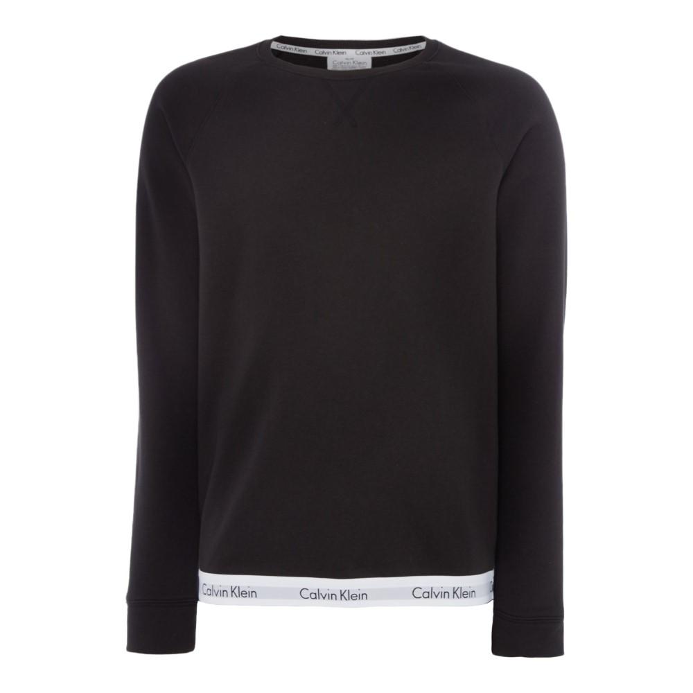 カルバンクライン メンズ トップス スウェット・トレーナー【Mordern Cotton Taping Hem Sweatshirt】black
