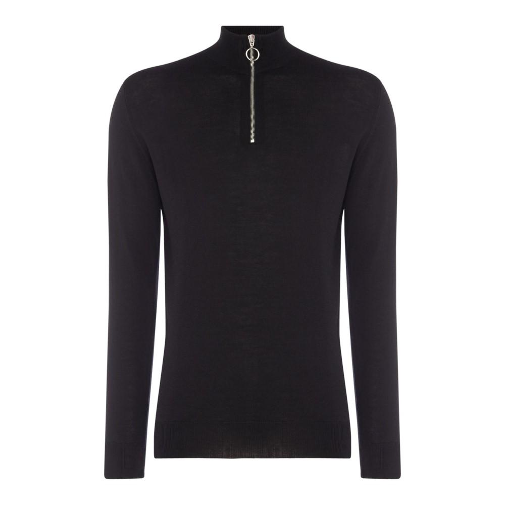 ミニマム メンズ トップス ニット・セーター【Long Sleeved Fine Knitted Jumper】black