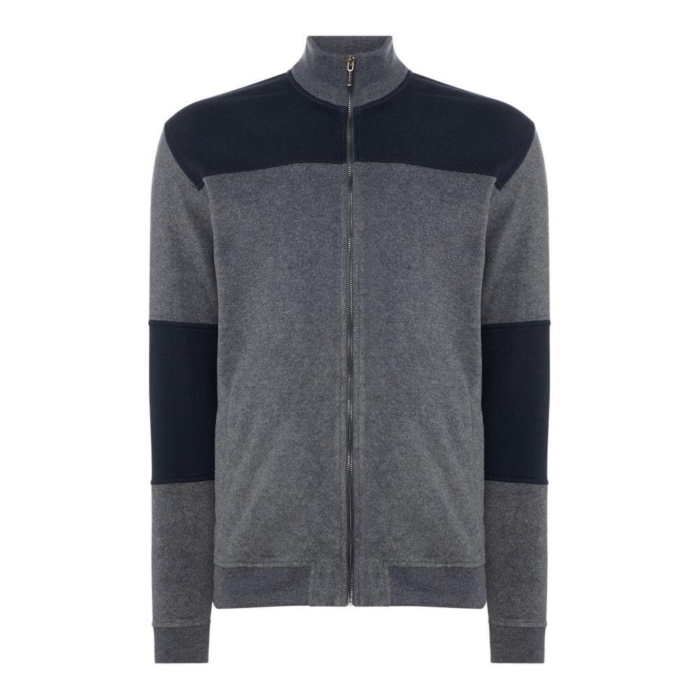 ミニマム メンズ トップス スウェット・トレーナー【Zipped Sweatshirt】dary grey marl