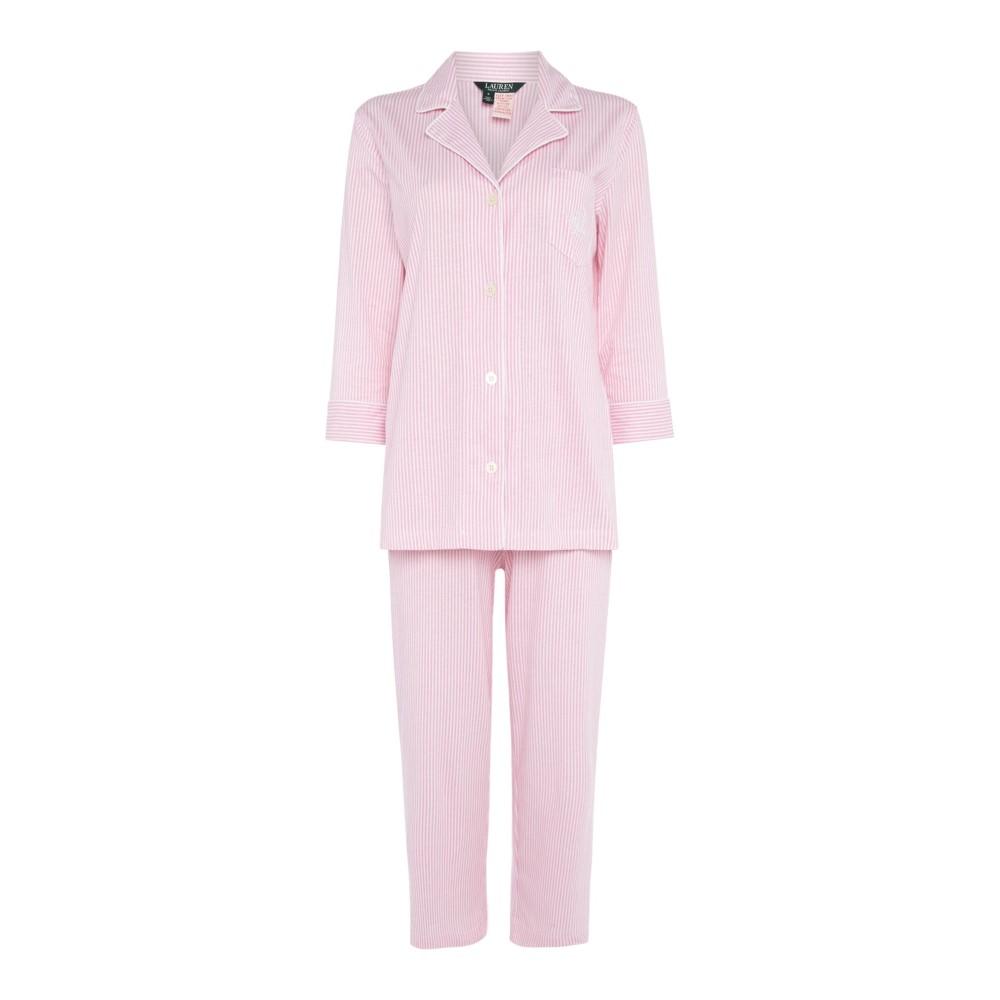 ラルフ ローレン レディース インナー・下着 パジャマ・上下セット【Exclusive Essentials Notch Collar Capri Set】pink