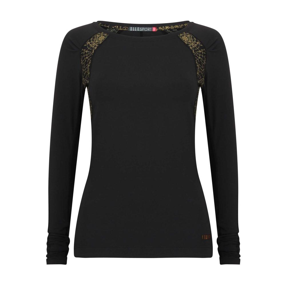 エル スポーツ メンズ ランニング・ウォーキング トップス【Sleek Long Sleeved Performance Top】black