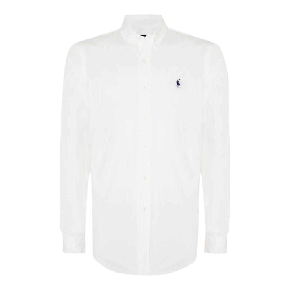 ラルフ ローレン メンズ トップス シャツ【Long Sleeve Button Down Collar Shirt】white
