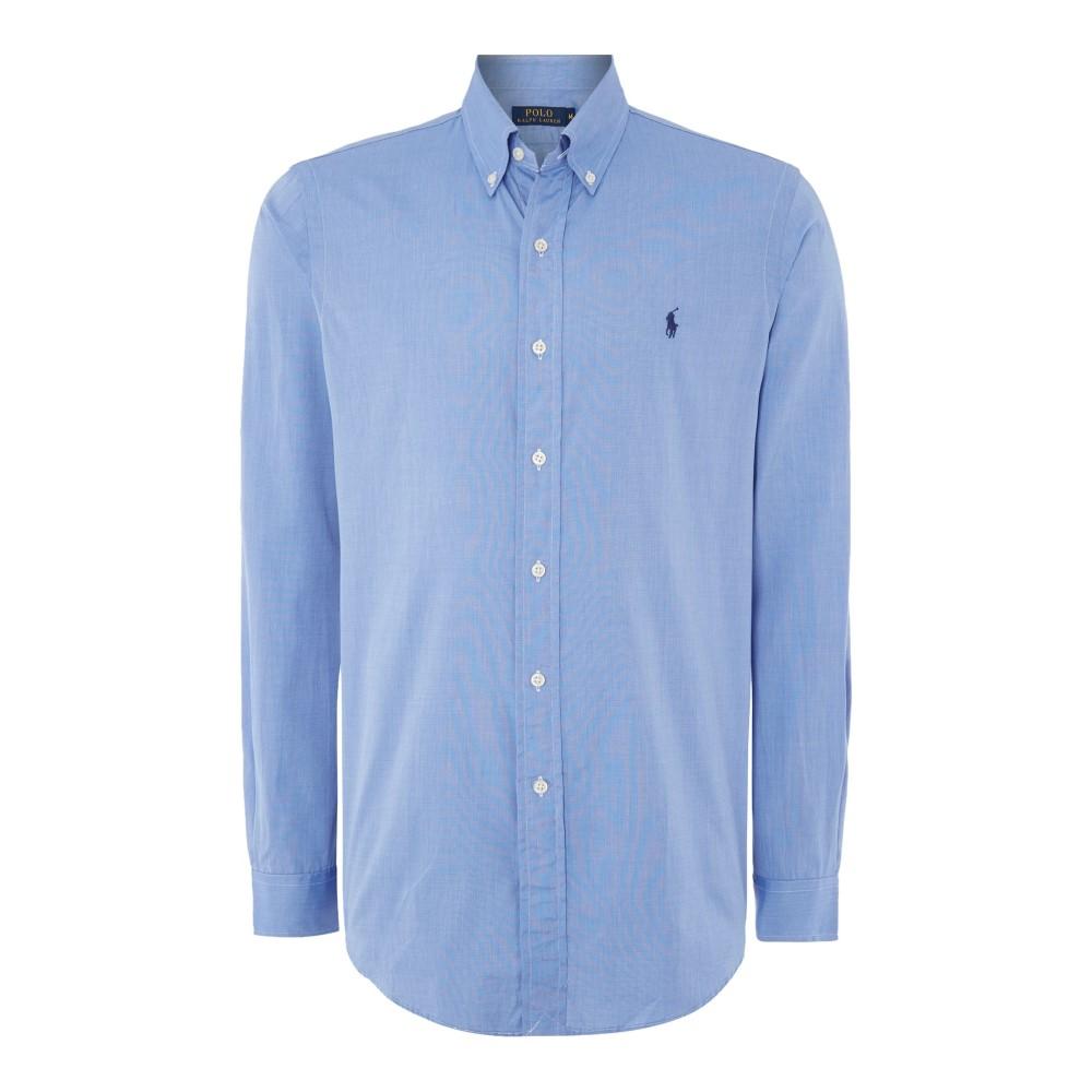 ラルフ ローレン メンズ トップス シャツ【Long Sleeve Button Down Collar Shirt】light blue