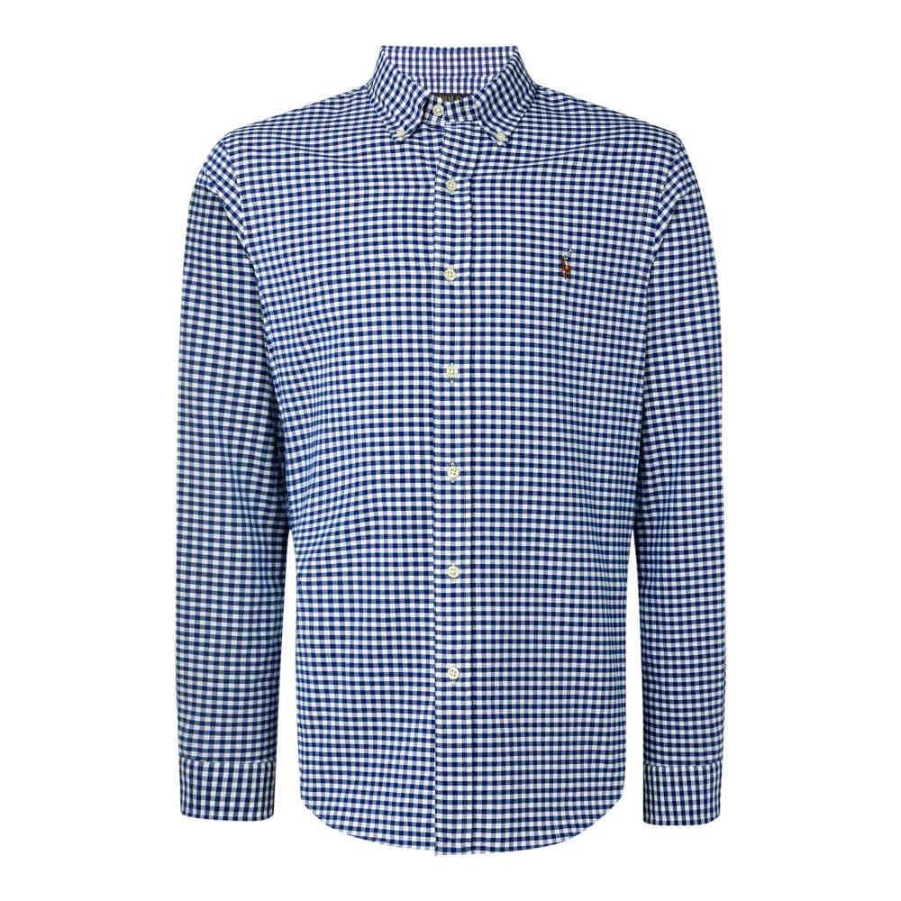 ラルフ ローレン メンズ トップス シャツ【Slim-fit Checked Oxford Shirt】blue
