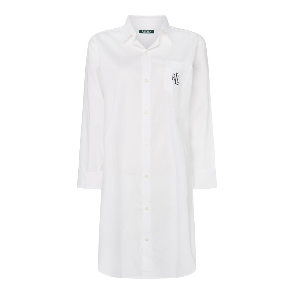 ラルフ ローレン レディース インナー・下着 パジャマ・トップのみ【Essentials 3/4 Sleeve His Shirt】white