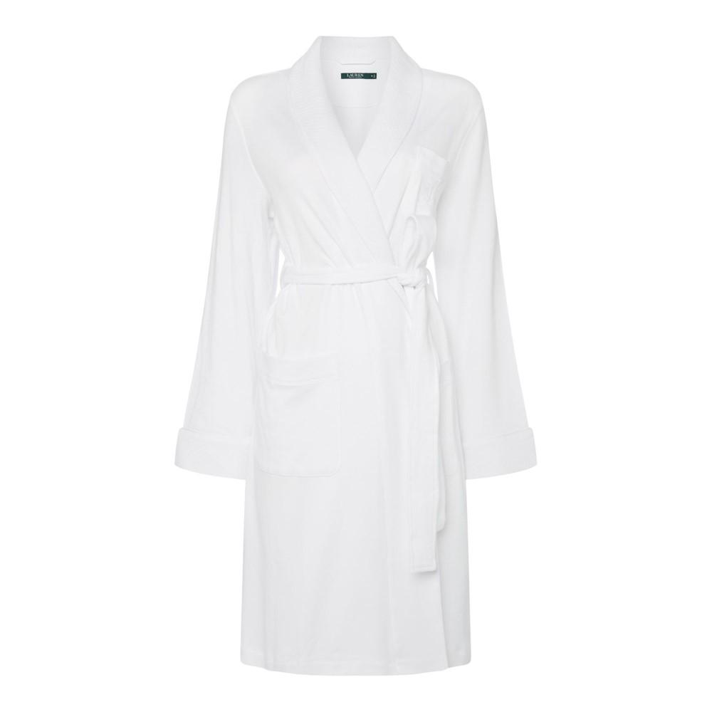 ラルフ ローレン レディース インナー・下着 ガウン・バスローブ【Essentials Quilted Collar Robe】white