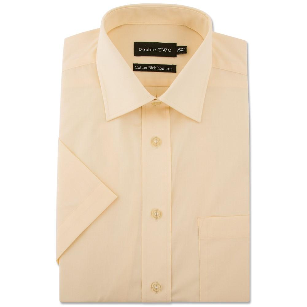 ダブルTWO メンズ トップス 半袖シャツ【King Size Short Sleeve Non-iron Shirt】yellow