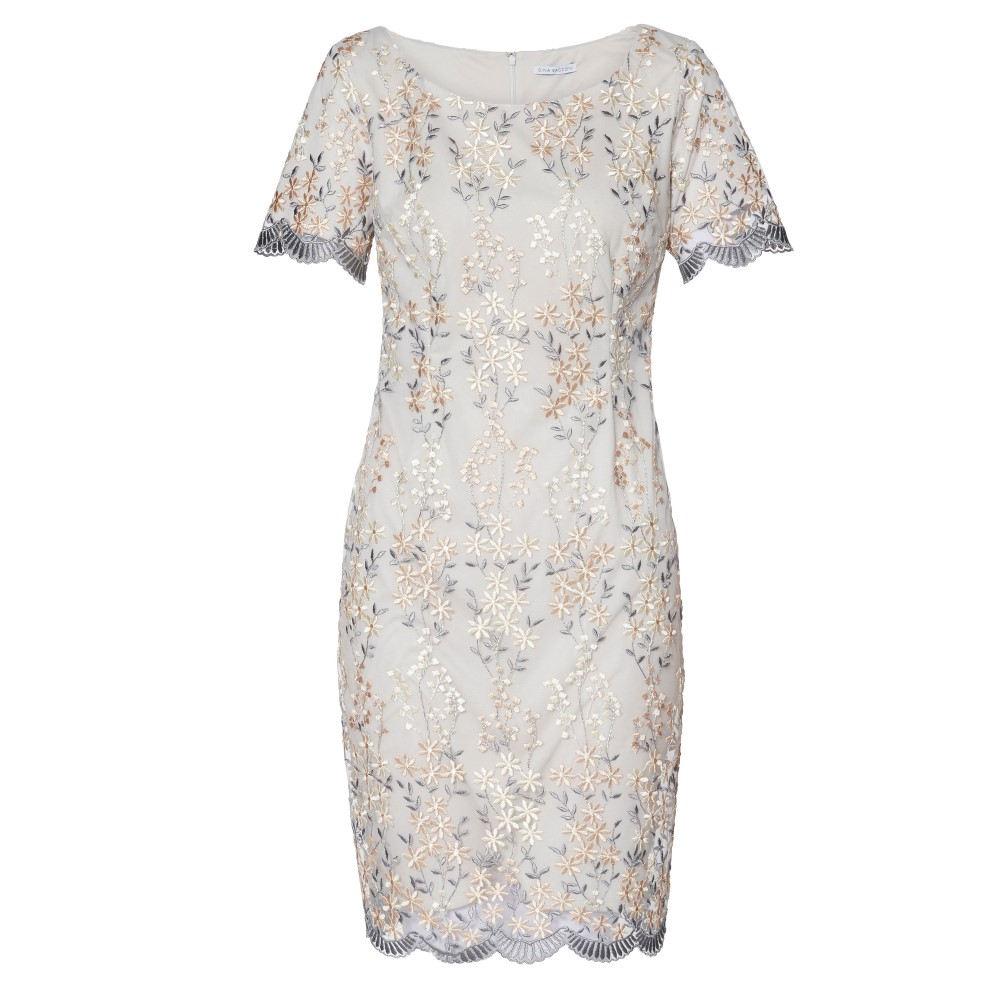 ジーナ バッコーニ レディース ワンピース・ドレス ワンピース【Janice Embroidered Dress】beige