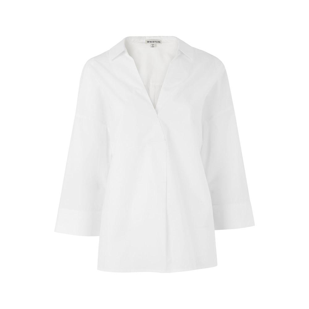 ホイッスルズ レディース トップス ブラウス・シャツ【Lola Shirt】white