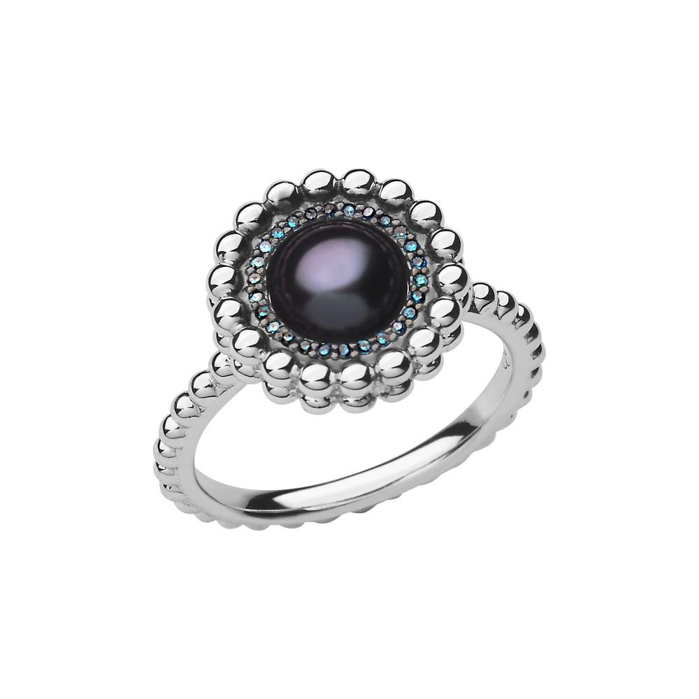 リンクス オブ ロンドン レディース ジュエリー・アクセサリー 指輪・リング【Effervescence Blue Diamond & Pearl Ring】silver