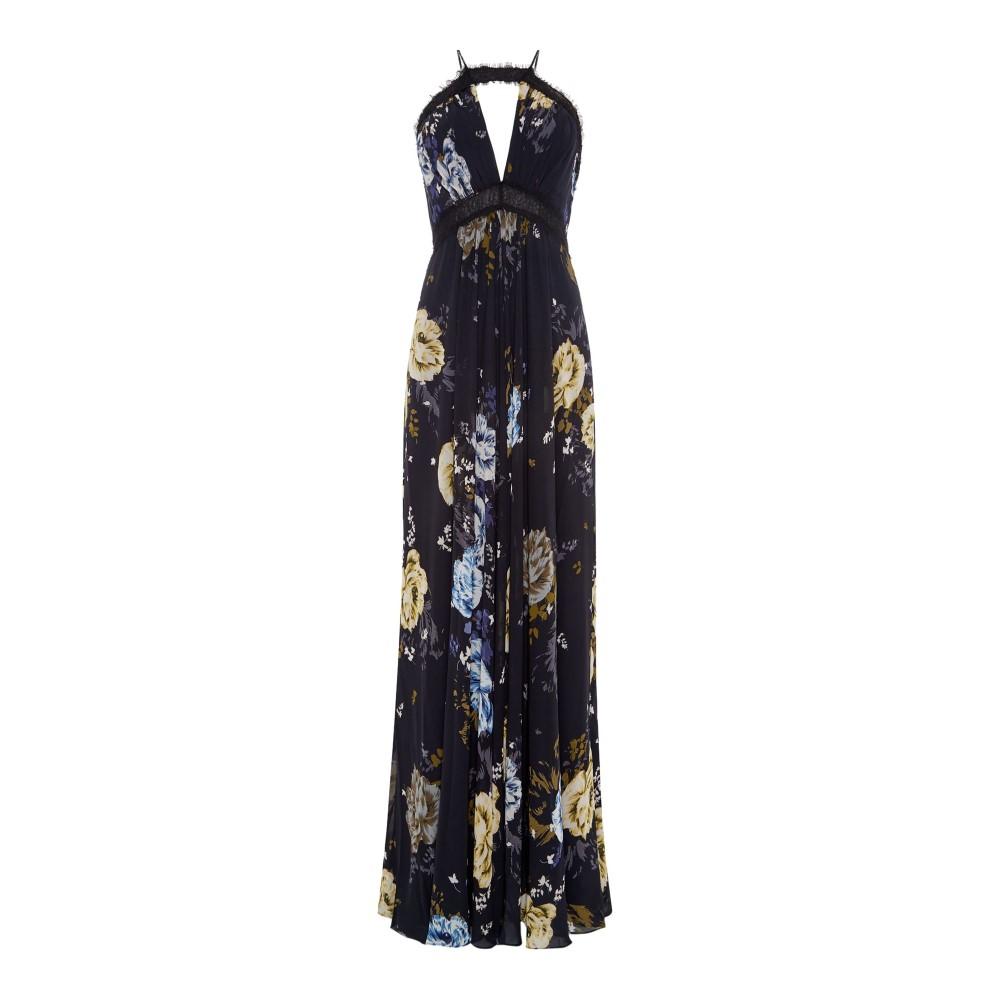 ジル スチュアート レディース ワンピース・ドレス パーティードレス【Strappy Satin Gown】black multi